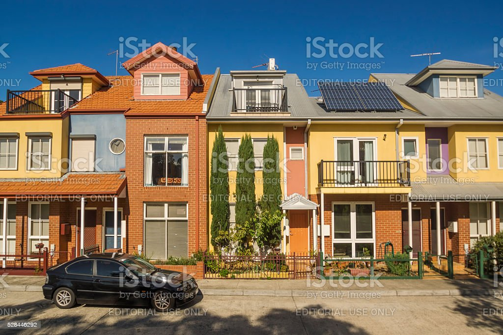 Townhouses in Melbourne stock photo