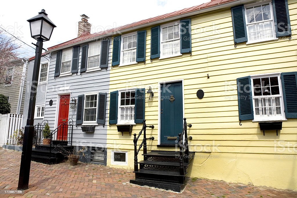 Townhouses in Washington DC royalty-free stock photo