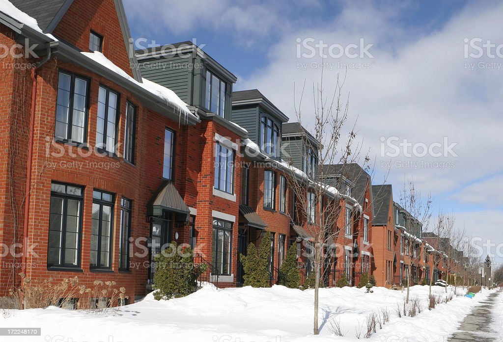 Townhouses Neighborhood royalty-free stock photo