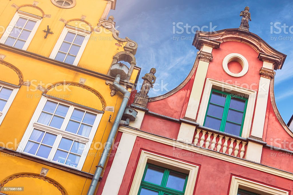 Townhouses of Gdansk stock photo