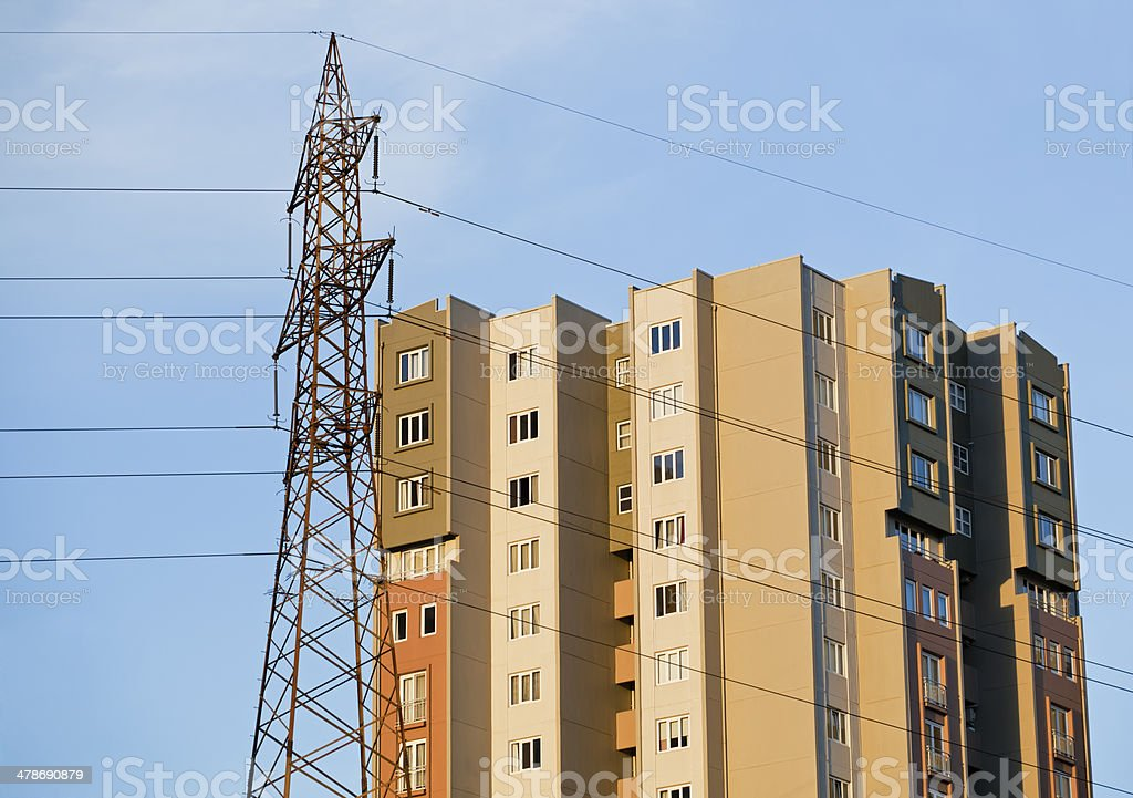 Townhouses royalty-free stock photo