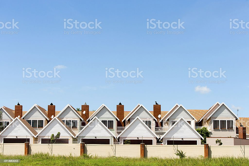 Townhouses. stock photo