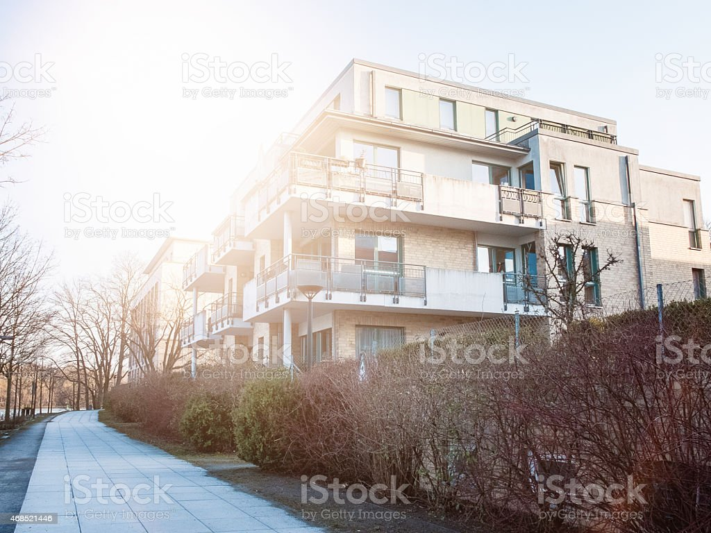 townhouses with way stock photo