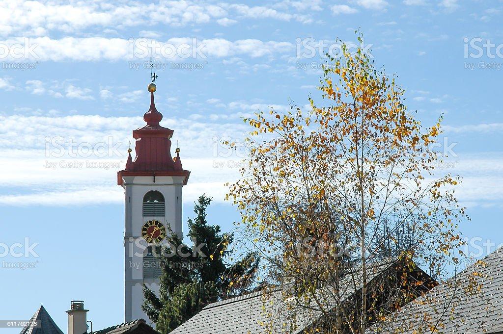 €€Townscape of Andermatt, Switzerland stock photo