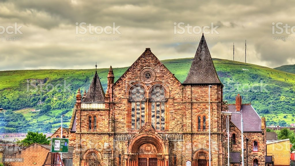 Townsend St. Presbyterian Church in Belfast - Northern Ireland stock photo