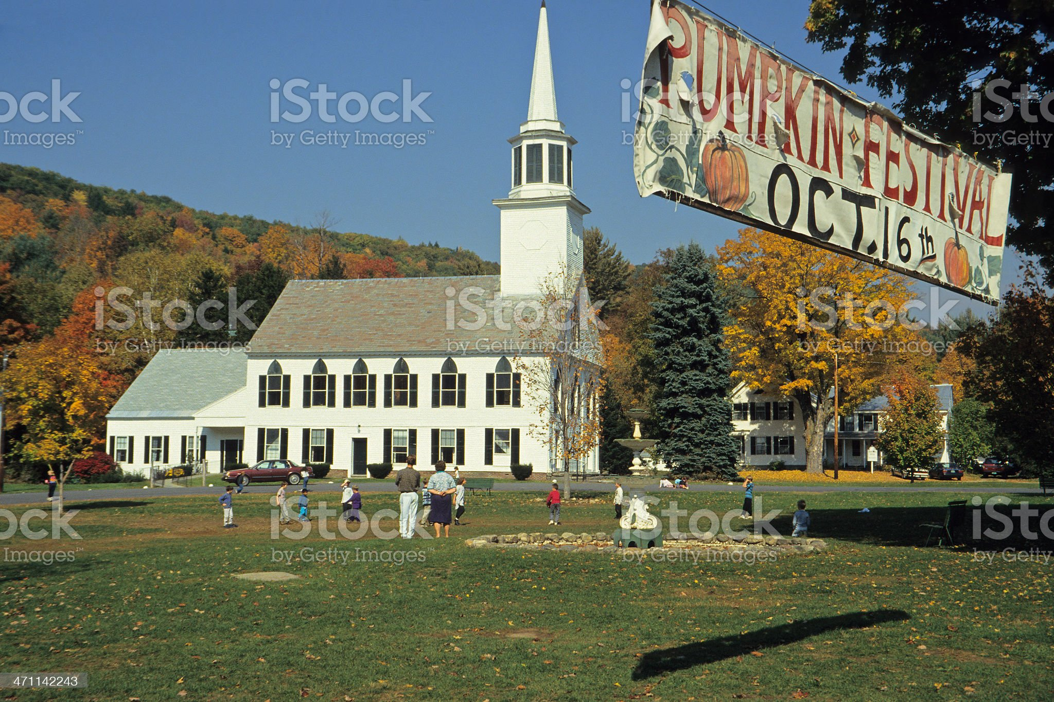 Townsend Village Green royalty-free stock photo