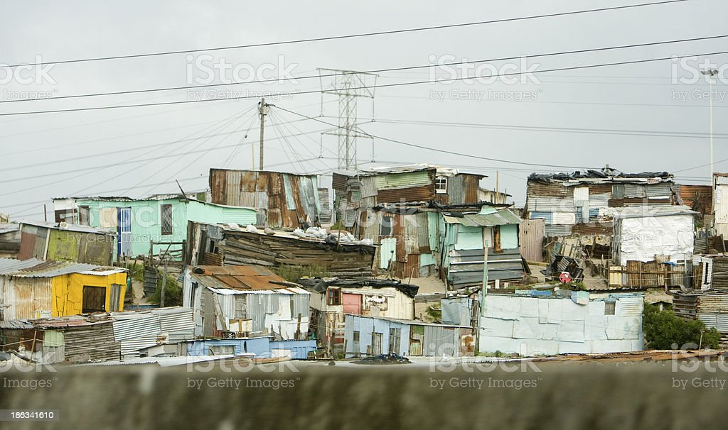 Township Homes, South Africa royalty-free stock photo