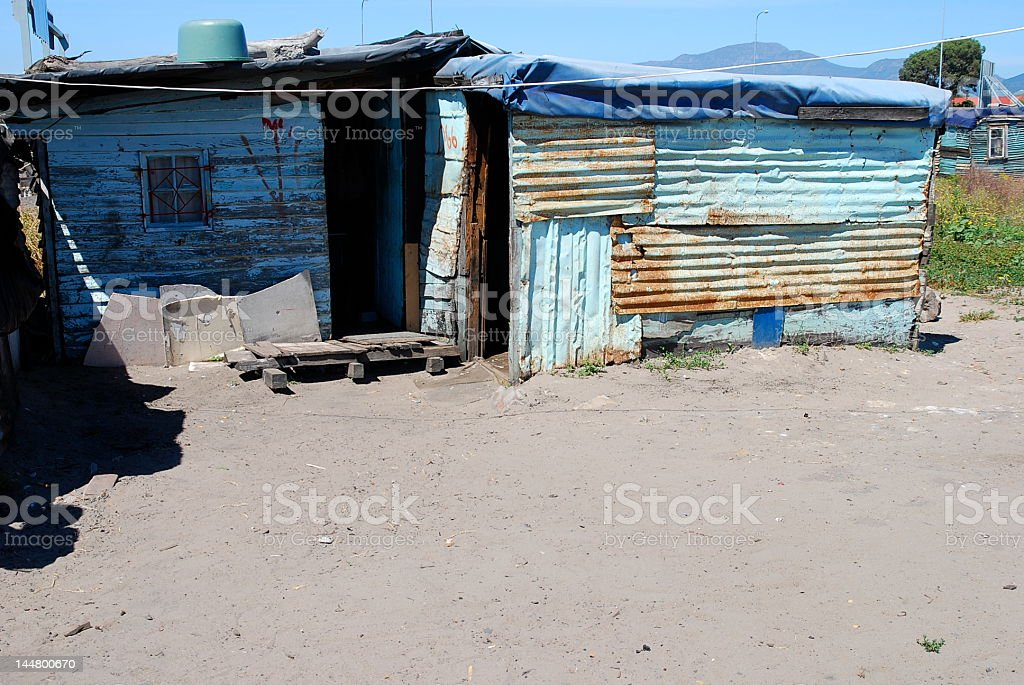 Township house in Langa royalty-free stock photo
