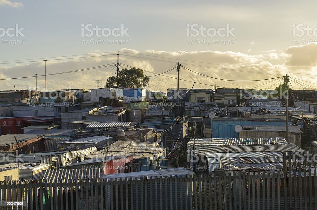 Township in Cape Town stock photo