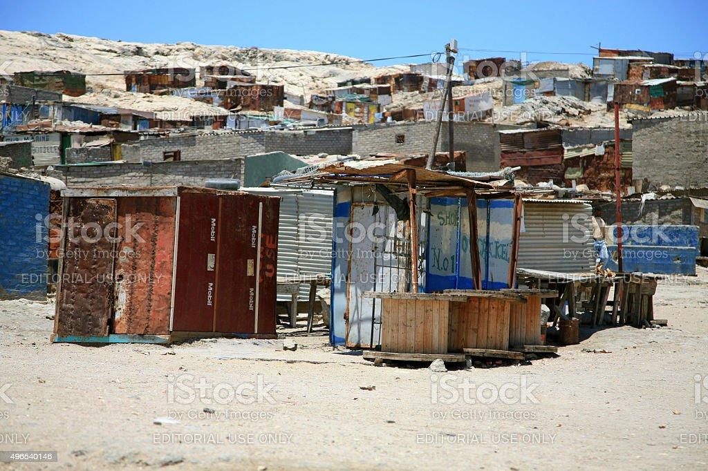Township in luderitz, Namibia stock photo