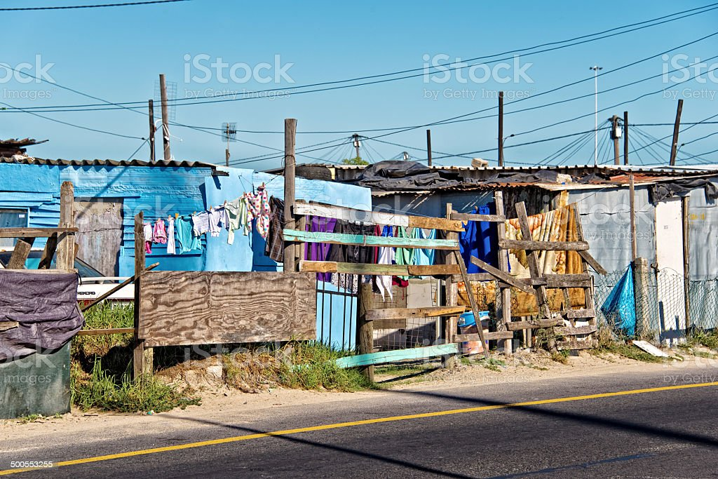 Township near Cape Town, South Africa stock photo