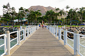 Townsville jetty and Castle Hill