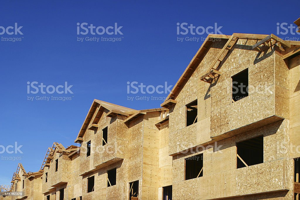 Townwhouse constr1 royalty-free stock photo