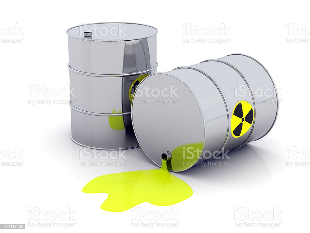 Toxic barrels stock photo