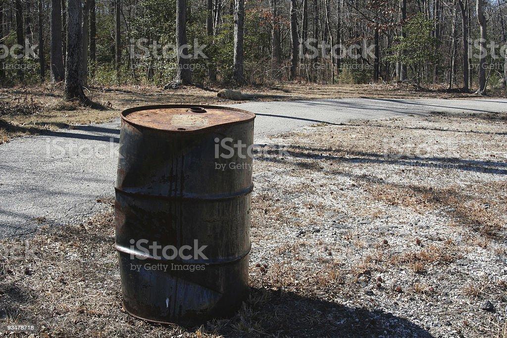 Toxic Dumping royalty-free stock photo