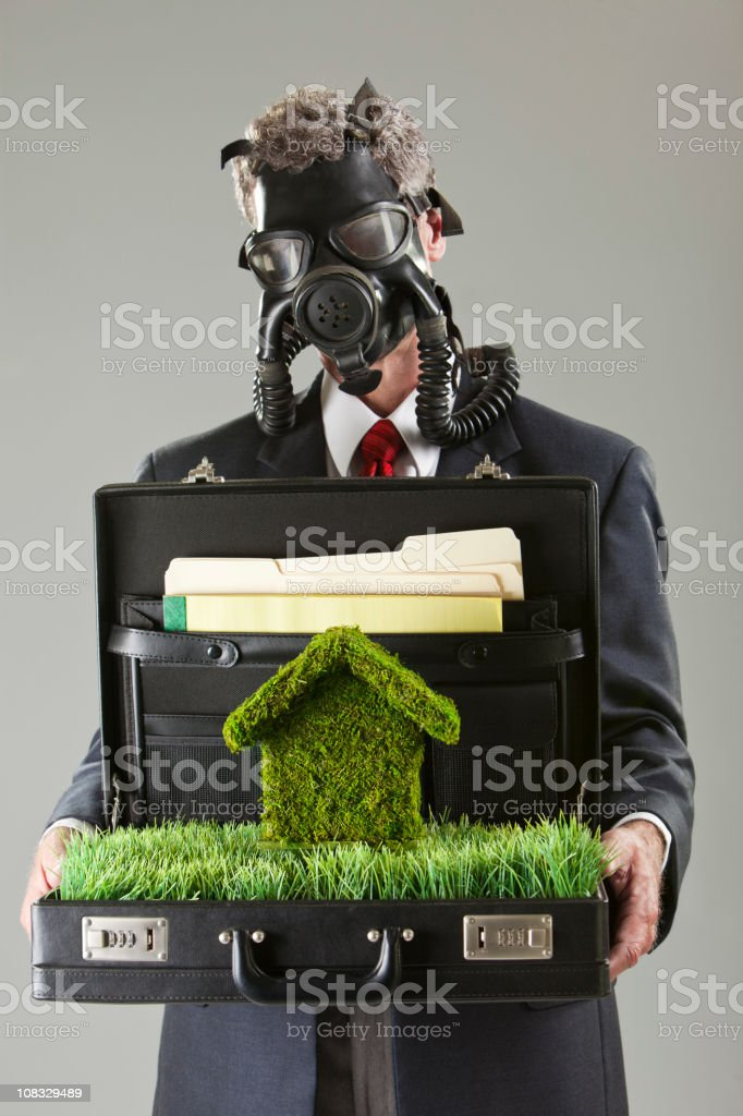 Toxic Environmental Business Man royalty-free stock photo