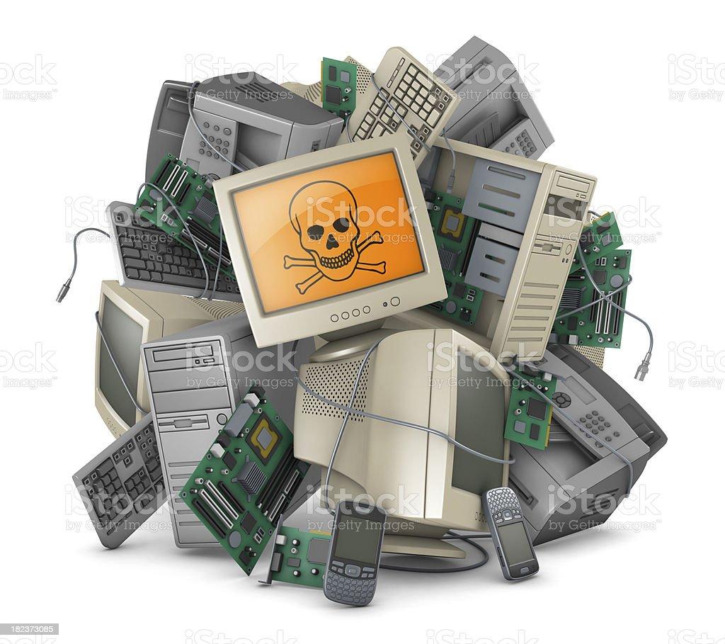 Toxic E-waste royalty-free stock photo