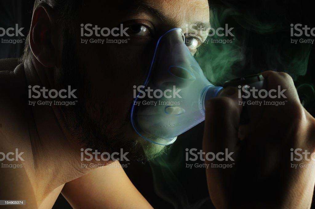 Toxic inhalation stock photo
