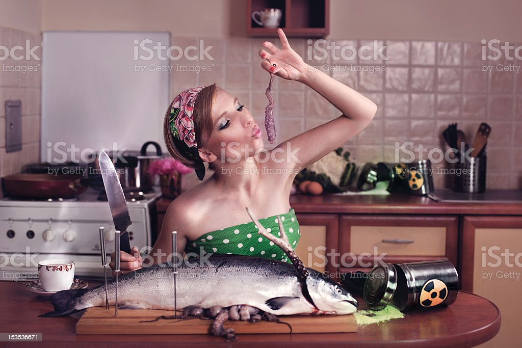 Toxic Kitchen Story stock photo