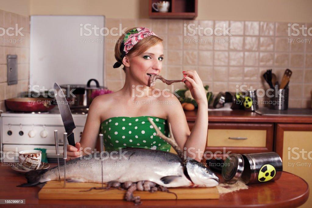 Toxic Kitchen Story royalty-free stock photo