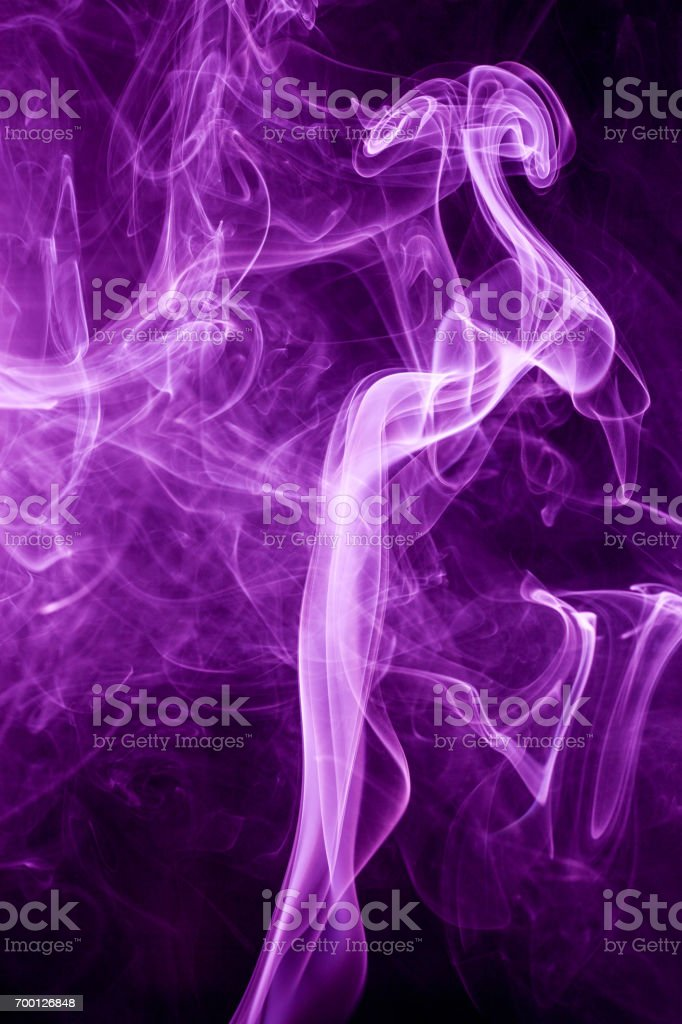 Toxic purple smoke. stock photo
