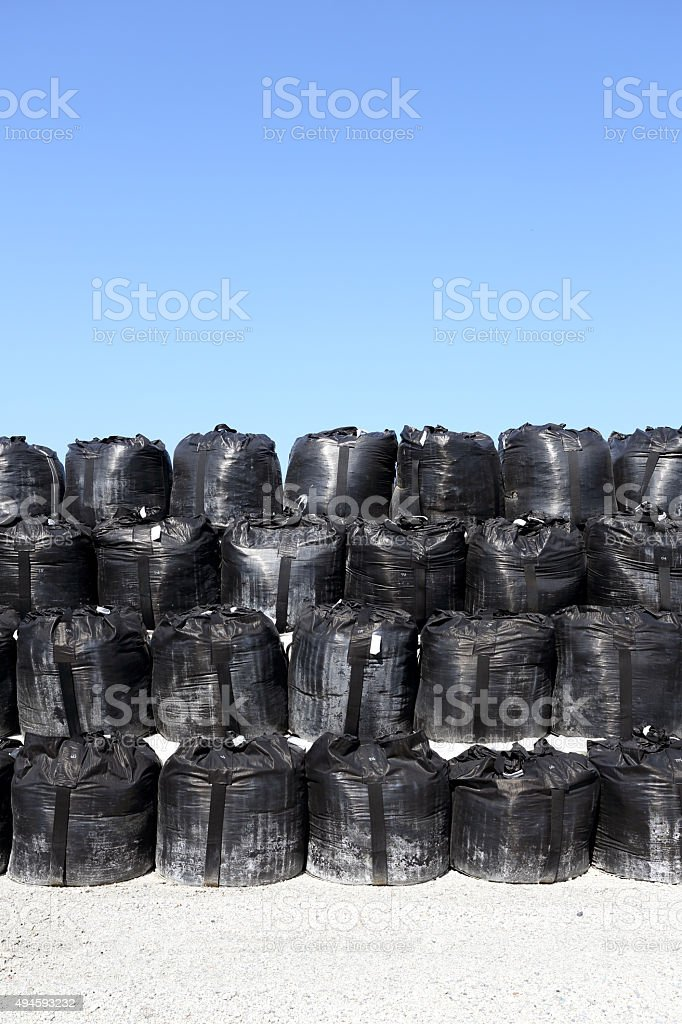 toxic substance bag stock photo