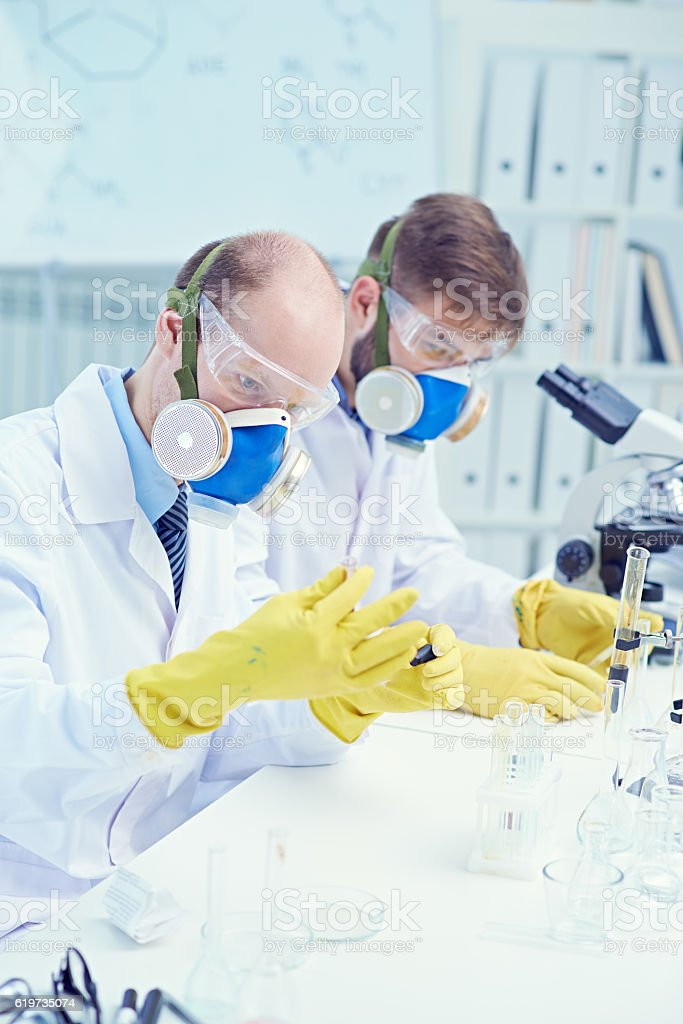 Toxic substances research stock photo
