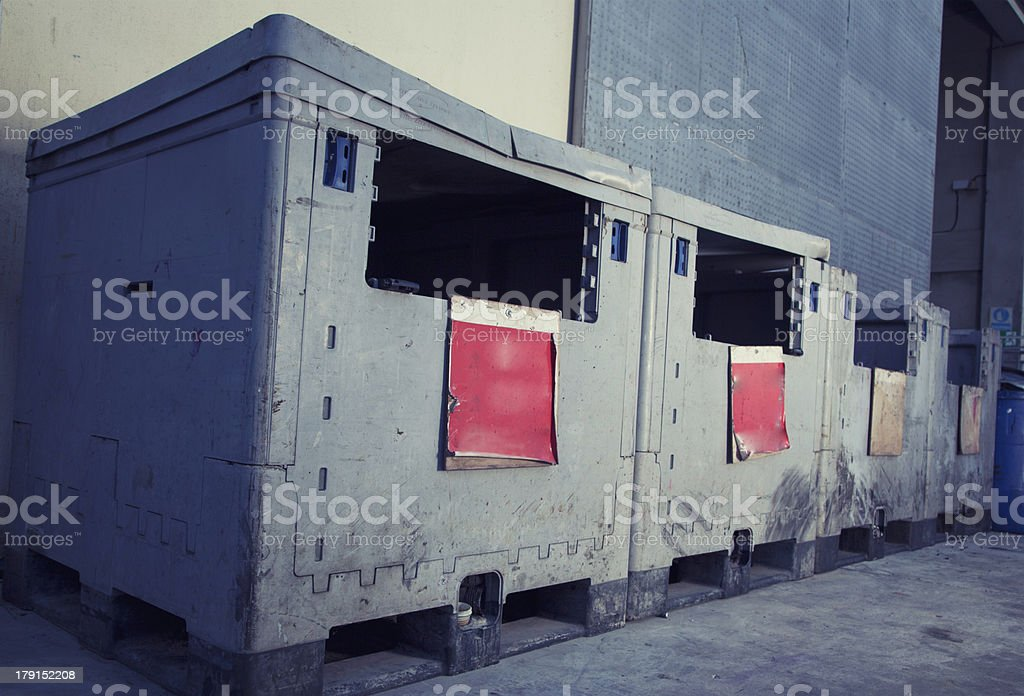Toxic Trash bins royalty-free stock photo