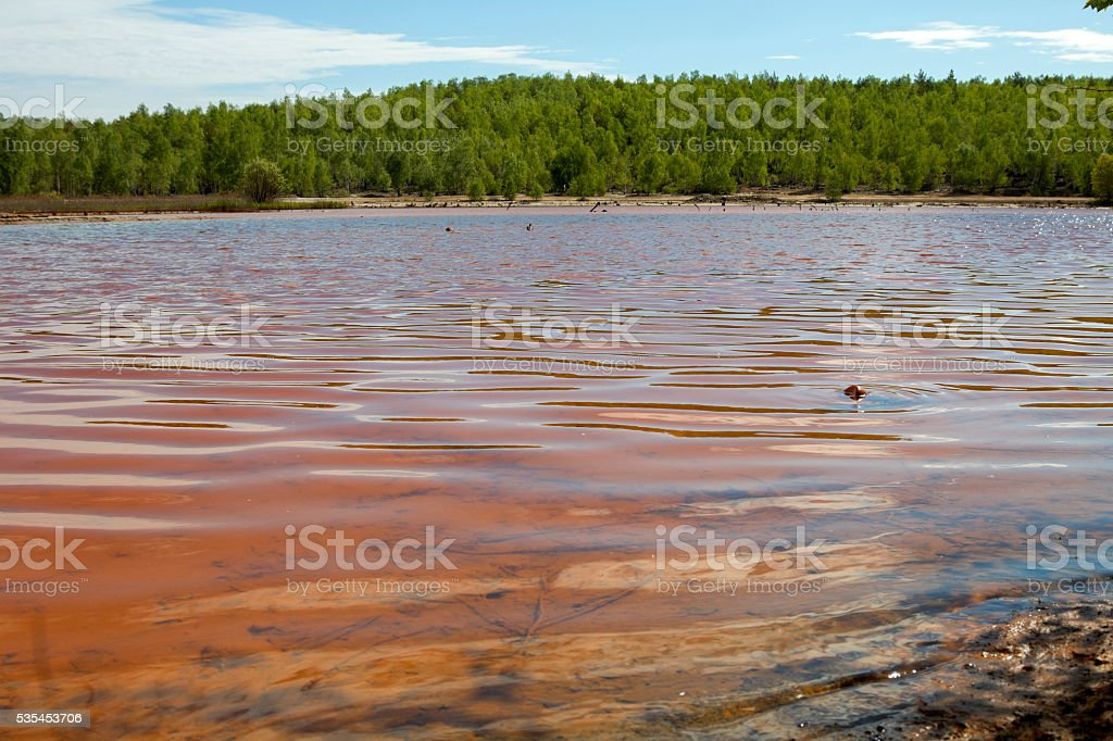 Toxic water pollution stock photo