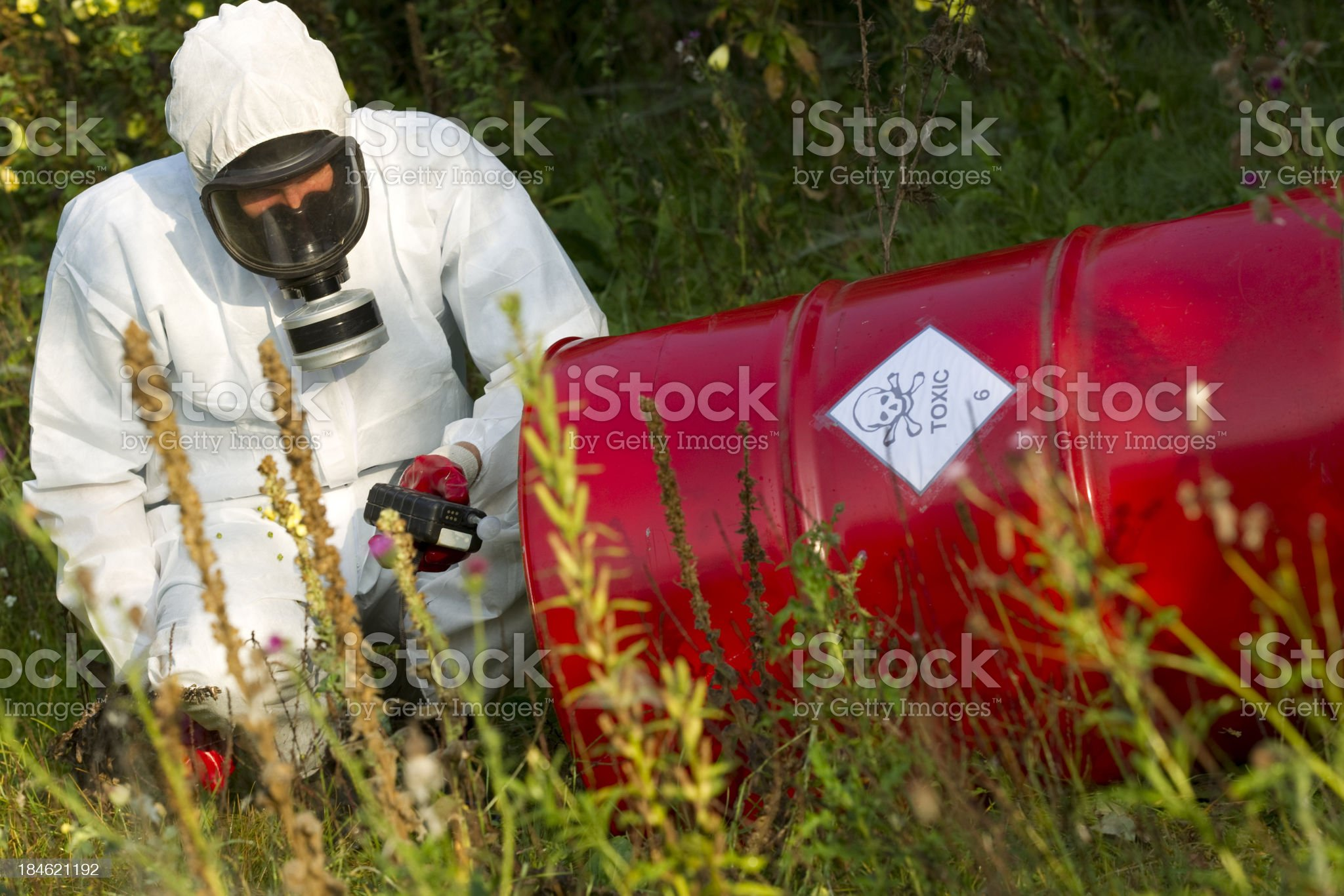 Toxicology, cleanup royalty-free stock photo