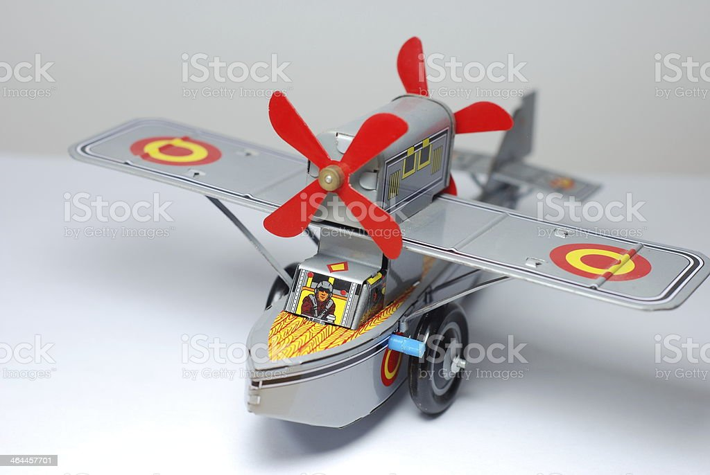 toy airplane royalty-free stock photo