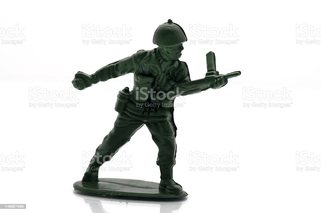 Toy Army Grenade Toss Soldier royalty-free stock photo