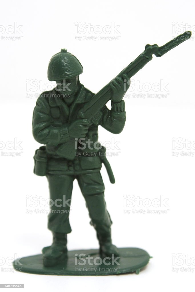 Toy Army Soldier royalty-free stock photo