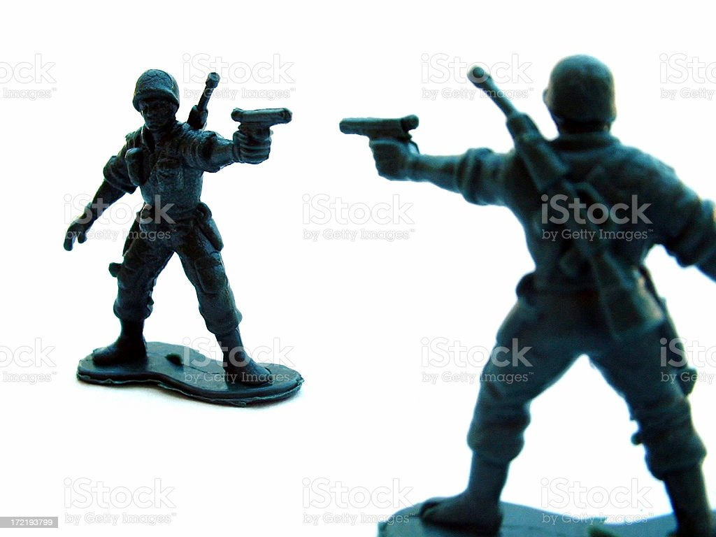 Toy Army Soldiers royalty-free stock photo