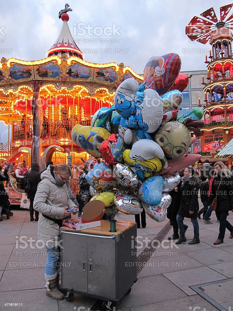 Toy ballon seeling on christmas market (Berlin - Germany) royalty-free stock photo