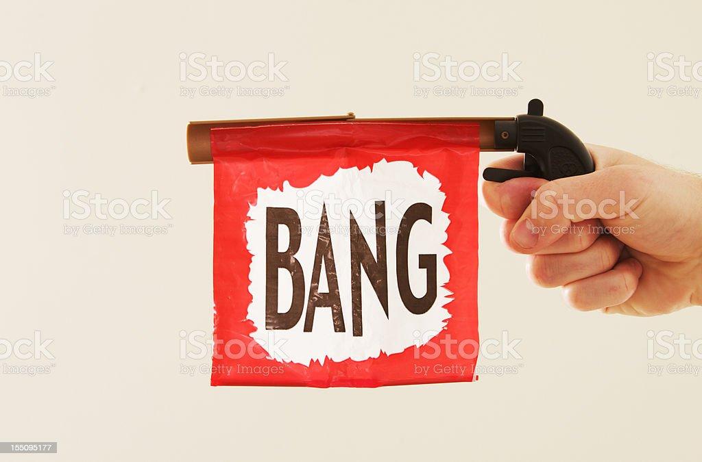 Toy Bang Gun stock photo