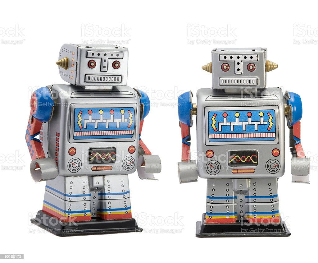 Giocattolo robot stagno foto stock royalty-free