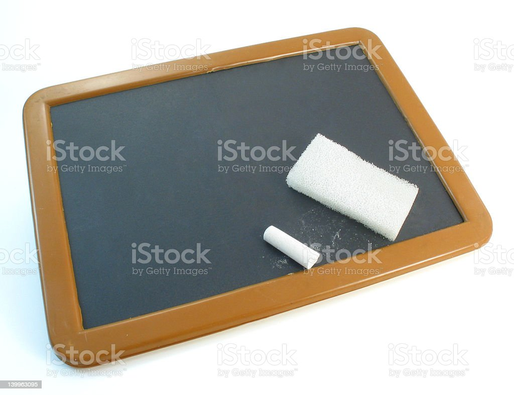 Toy Blackboard Isolated royalty-free stock photo