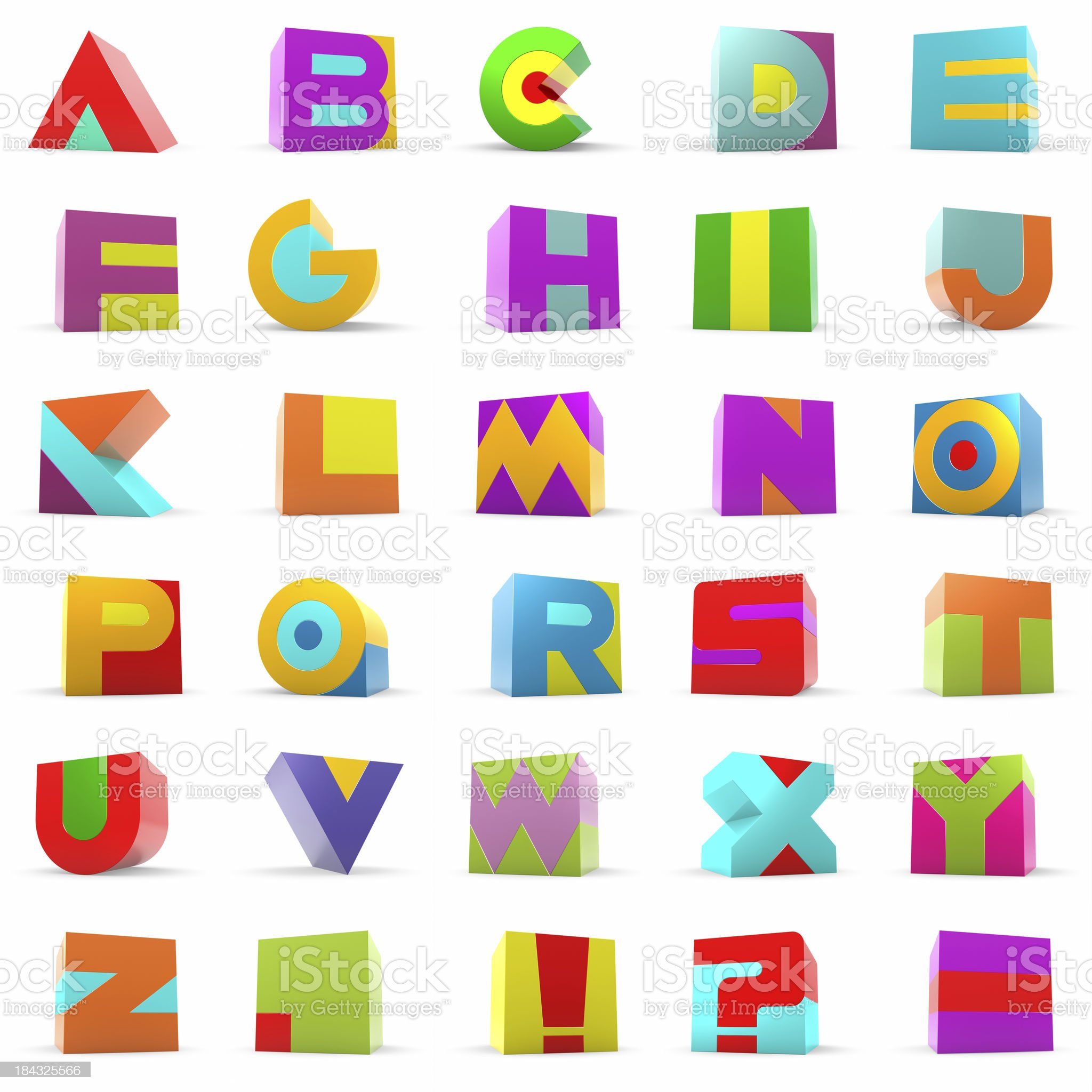 Toy Block Alphabet Letters royalty-free stock photo