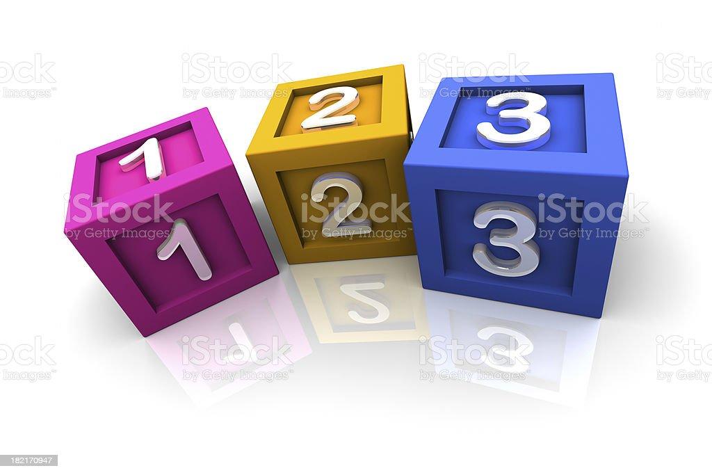 Toy Blocks 1,2,3 royalty-free stock photo