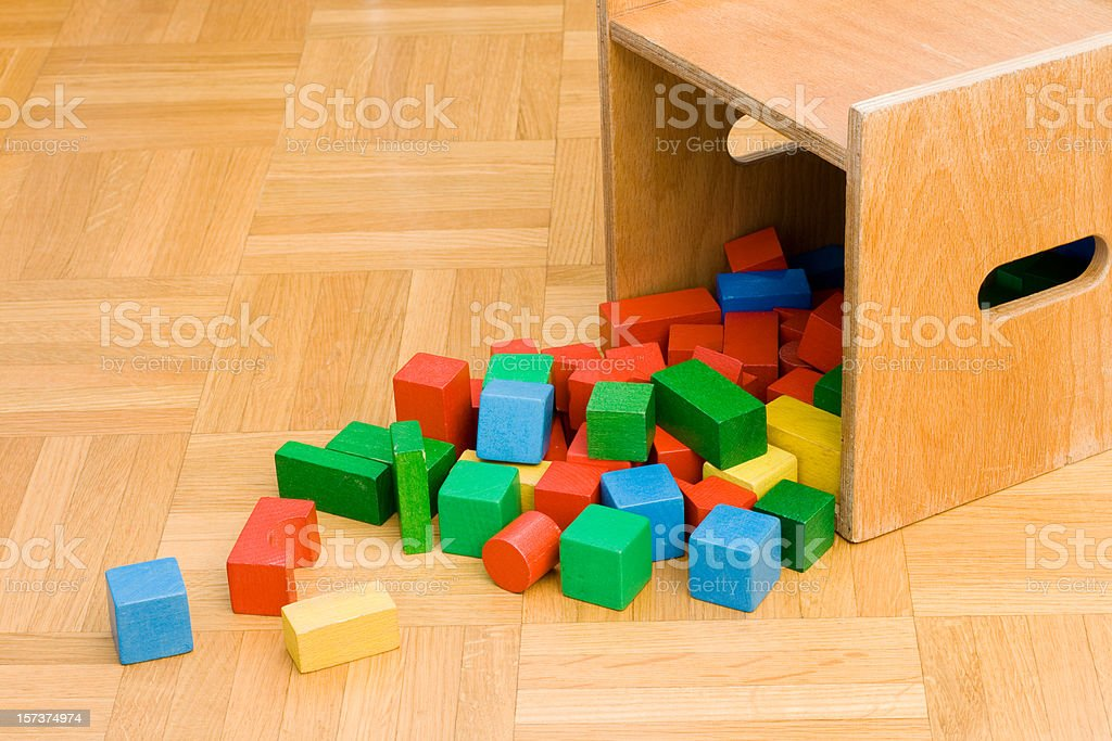 Toy blocks royalty-free stock photo