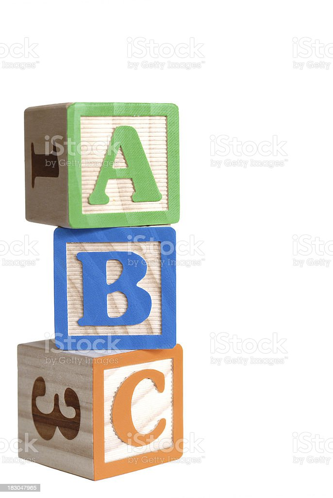 Toy blocks royalty-free stock photo