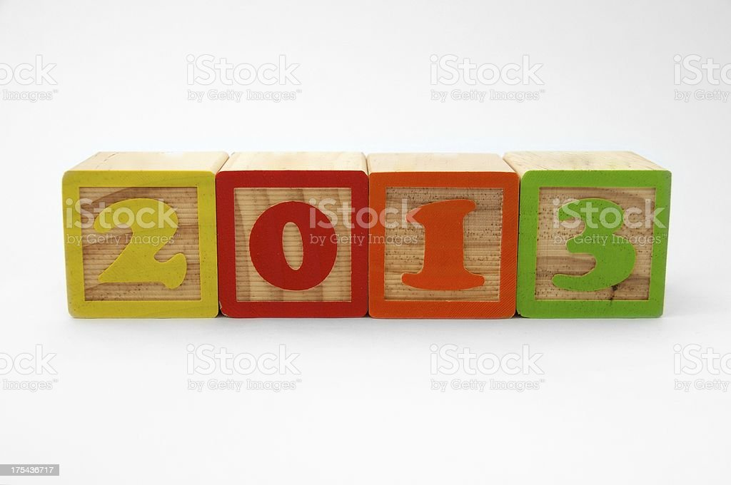 Toy Blocks Showing The Year 2013 royalty-free stock photo