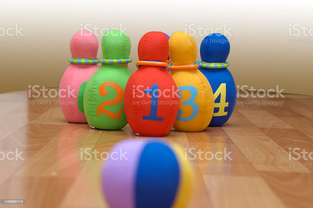 Toy bowling stock photo