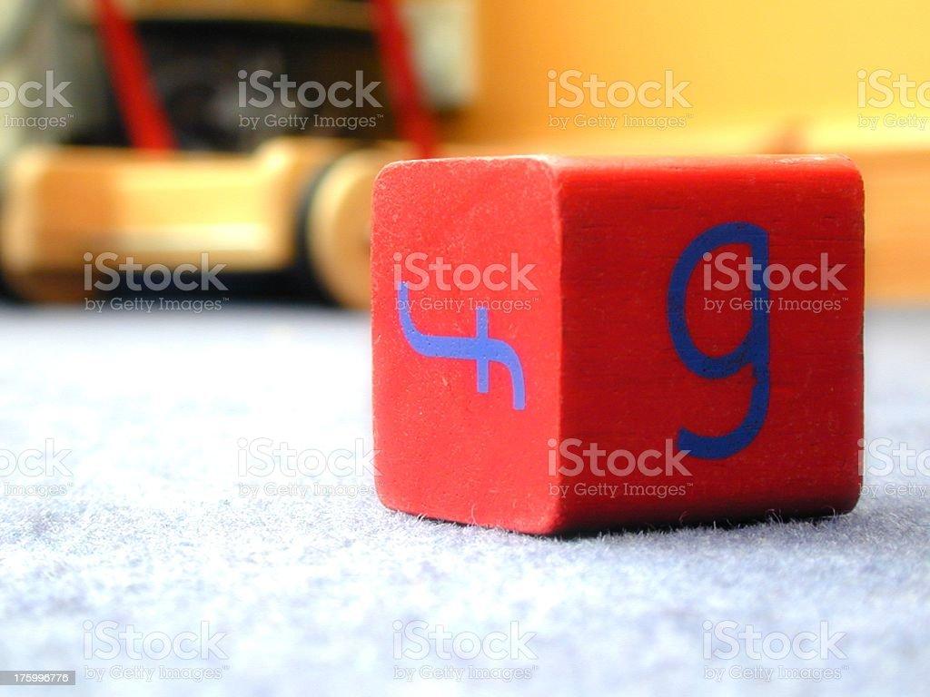Toy brick royalty-free stock photo