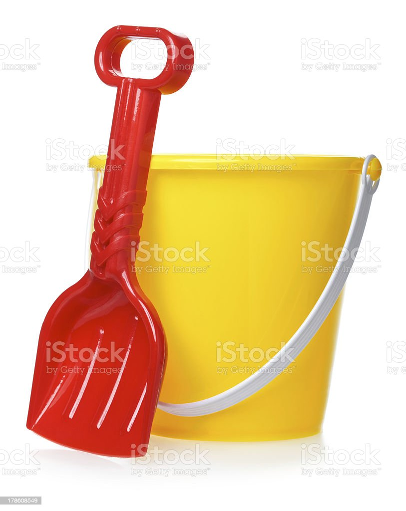 Toy Bucket And Scoop stock photo