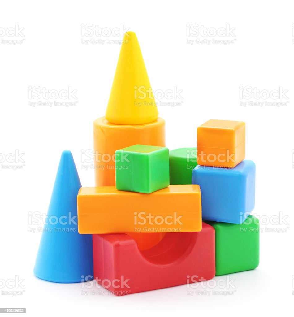 Toy building material. stock photo