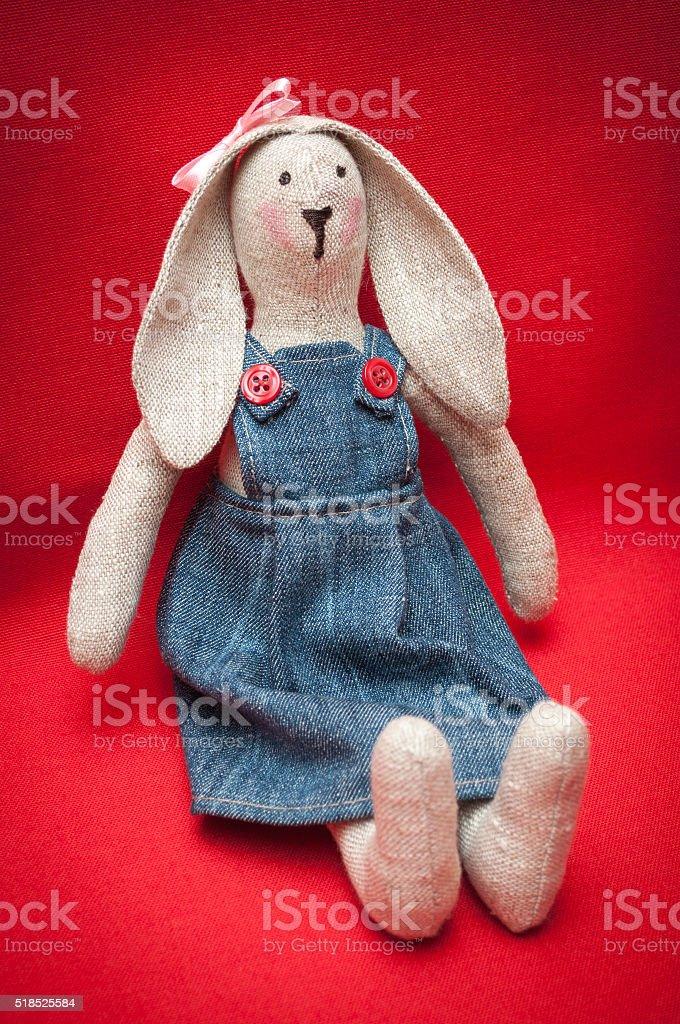 toy bunny stock photo