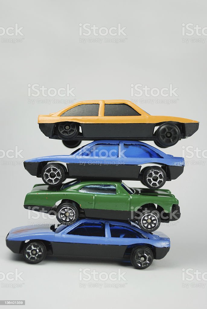 Toy cars stock photo