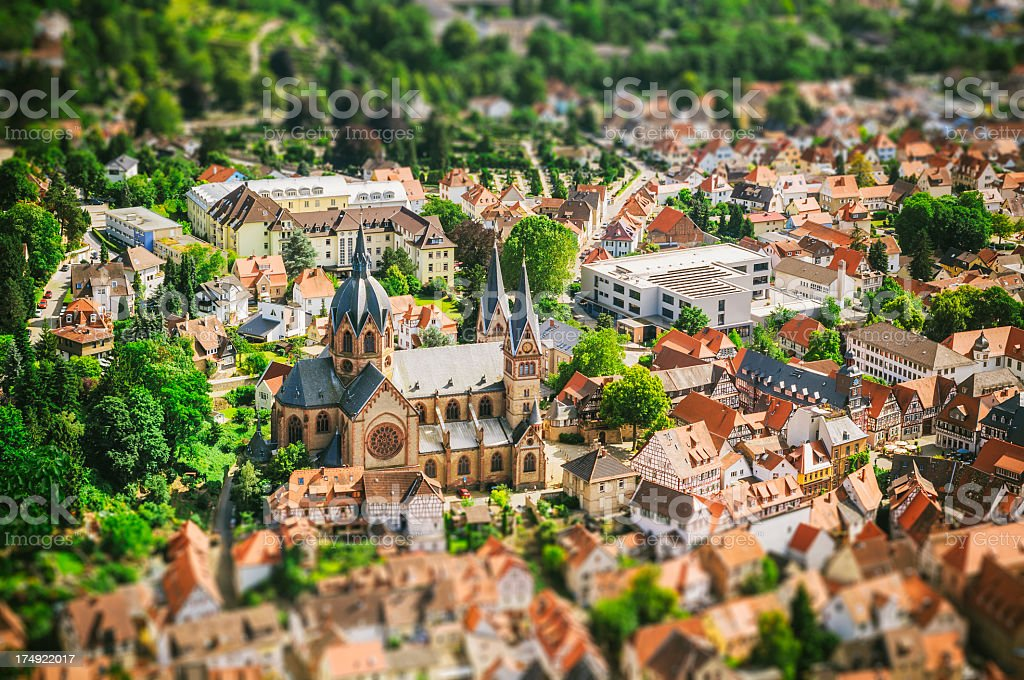 Toy city - Heppenheim in Germany stock photo